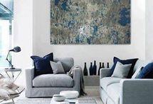 decoration grey/ blue