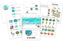 Ocean and Sea Creatures School Activities / Printables and other inspiration for learning about sea life and animals of the ocean habitat for preschool and elementary students.