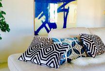 Silk velvet ikat pillows / Hand loomed limited edition