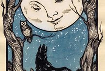 wolves/moon