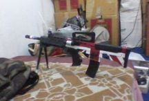 paint BRITISH FLAG on airsoft unit / painting and patient to gain the courage