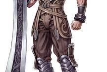 Two handed - Great sword, maul, greataxe, glavie