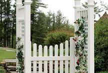 Arbors and Trellises / Add character to your yard or outdoor area with an arbor or trellis.