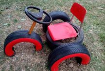 Recycle tires playground