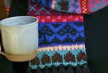Knitted Fair Isle Scarf Project