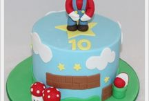 Mario party / Mario the arcade game party ideas. Mario and Luigi cakes, game, party favors, pinatas and all kinds of birthday stuff.