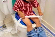Teaching children how to wipe clean with toilet paper and Fanny Wipe