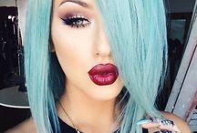 saç modeli ve renkleri