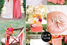 Pink, Peach and Coral Wedding Colors Inspirations