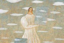 Toshio Arimoto / 有元 利夫 Arimoto Toshio (1946.9.23-1985.2.24) Japanese painter.