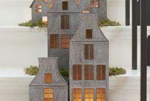 Tin houses for Christmas