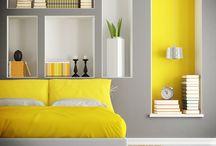 El amarillo en la decoración / El amarillo es un color clave perfecto para iluminar los espacios de una manera muy espiritual. Además es un tono divertido que proyecta alegría.
