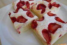 Recepty - jahodové, malinové koláče, zákusky, torty