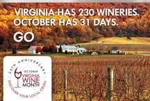 October is Virginia Wine Month! / Featuring 5 ways to celebrate Virginia Wine Month. No wonder #Virginia is for #Wine Lovers!