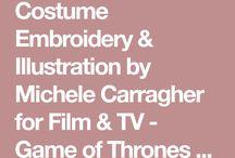 Michèle carrengher broderies costumes de film