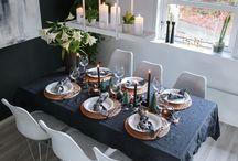 by @hvitelinjer // Tablesetting / #tabelsetting #bordsetting #bordekorasjon #decor #tabledecor #tabledecoration