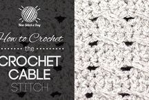 Crochet and knitting techniques and tutorials