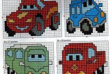 cross stitch - auta