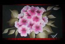 рисуем цветы / образцы рисунков, техника