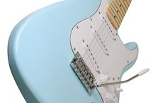 Electric Guitars / New colors like Seafoam Green and Powder Blue in a classic style by Jameson Guitars http://www.amazon.com/Jameson-Seafoam-Electric-Guitar-Tremolo/dp/B00QB4VEOU