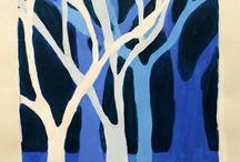 perspektiivivaikkutelma värein metsä