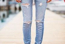 Light and distressed denim