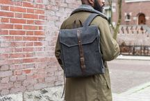 Backpacks - Classic Series / Explore the backpacks of our classic series. Waxed canvas and leather men's bags.