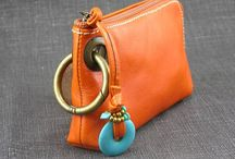 purse coin leather