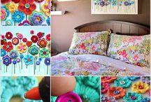 crochê e flores