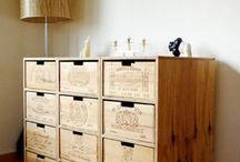 Caisses de vin