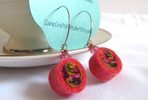 ZanieCrafts /  I make unique functional handmade gifts made from wet felted wool. Always plenty of color and full of character and charm in this shop!