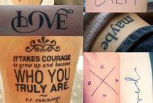 Tattoos / by Sabrina A. Lopez de la Hoya