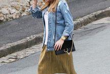 La jupe gold ! THE GREEN ANANAS