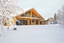 • Holiday Villas | Chalet Lompolonmohkki • / Contemporary holiday chalet in Lapland, Finland