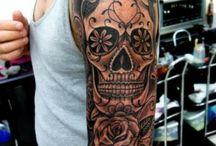 Modèle de tatouage de tête de mort