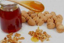 грецкий орех,  мед,  гречка