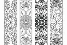 colouring bookmarks