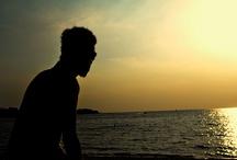 Silhouette / Silhouette at Pantai Bandengan Jepara
