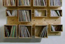 Record shelves