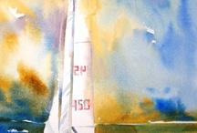 żeglarstwo / Malarstwo olejne,akwarele,zdjęcia-tematycznie powiązane z żeglarstwem ,marynistyką