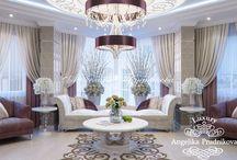 Дизайн интерьера квартиры Фортепиано / Дизайн квартиры в Фортепиано выполнен в стиле Ар-Деко. В оформлении дома отдельное внимание уделено декору. Особенно притягивает взгляд расписной пол и стены. Интересная цветовая гамма плавно перетекает по всей квартире.  В интерьере квартиры присутствует необходимая лёгкость. В доме много цветов и цветочного орнамента.