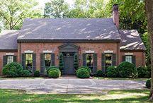red brick house exterior