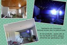 Réalisations / Réalisations faites par nos partenaires, nos clients, avec nos produits. Ruban LED, Kits ciels étoilés en fibre optique et générateur LED