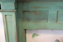 Hallway and Mantel / Finished antiquing my mantel and painted hallway / by Cheryl Pappas