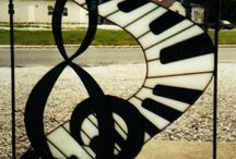 musicales en vidrio