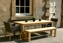 Contemporary outdoor dining tables / Dine outdoors in style... Make your outside space something special with contemporary garden tables from Bau.