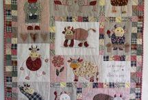 Panneau vaches patchwork