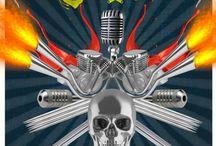RockInk Blues / Galería de posters de la convención de tatuajes RockInk Blues.