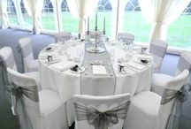 White and silver decor