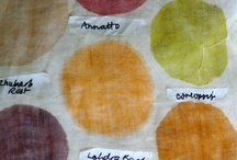 Plant dyes on fabric